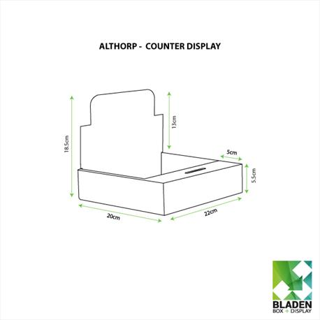 Counter Display Unit - Althorp Line Drawing