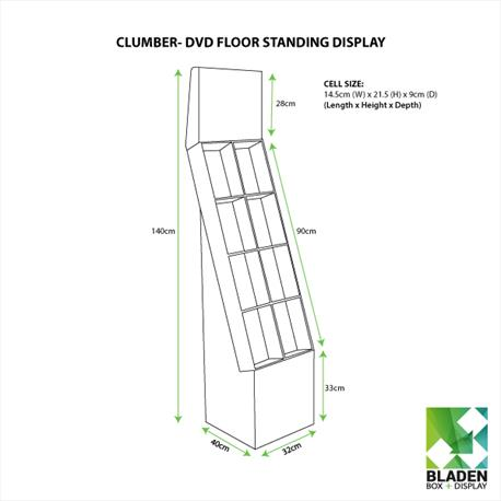 Floor Standing Display - Clumber DVD Line Drawing
