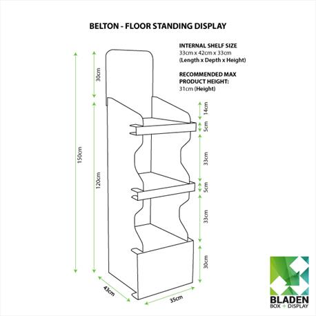 Floor Standing Display - Belton 3 Shelf
