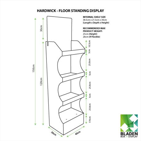 Floor Standing Display - Hardwick - Line Drawing