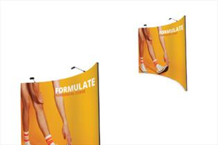 Fabric Display Stands - Formulate Curve