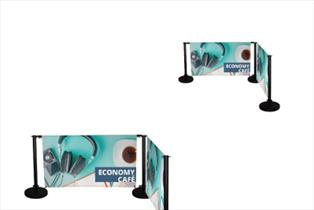 Pavement Signs - Economy Cafe Barrier